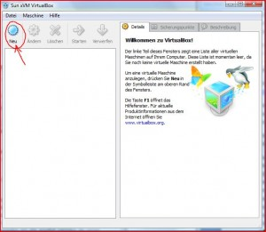 Start VirtualBox
