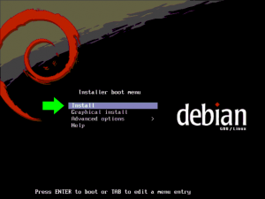 Debian Installation Boot