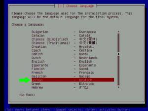 Debian 5 Sprache