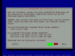 Debian 5 festplatte