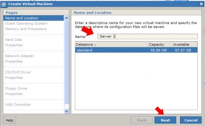Name VMware Server