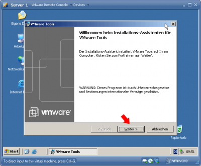 VMware Treiber & Tools