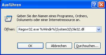 Outlook 2003 meldet beim Senden - Schnittstelle nicht registriert
