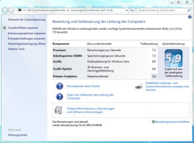 Leistung Intel i7-860