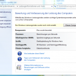 Windows-Leistungsindex leer