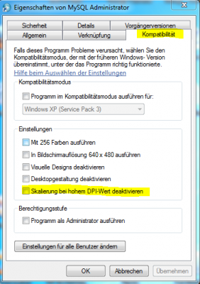 Windows 7 unscharfe verschwommene Anzeige