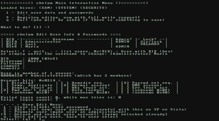 Windows 7 Kennwort vergessen