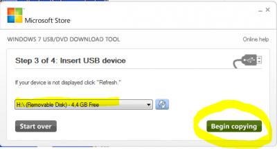 USB STick erstellen