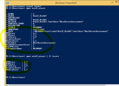 Windows-Leistungsindex Bericht