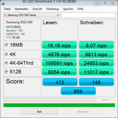 as-ssd-bench Samsung SSD 840io