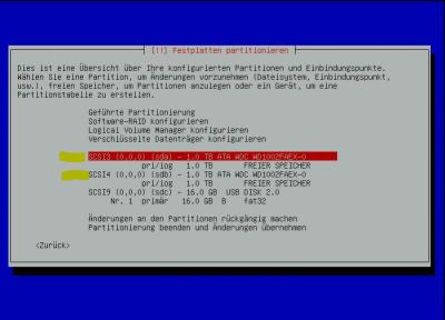Debian-Raid Installation 02