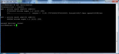 Debian-Raid Status