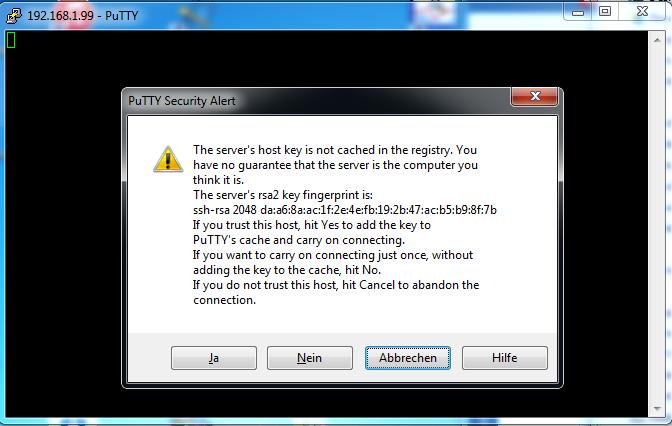 putty network error software caused connection abort