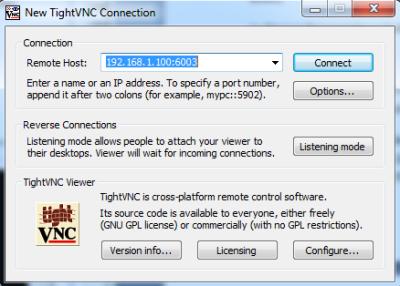 Proxmox VE VNC TightVNC