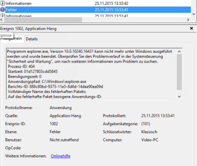 """Lösung für den Fehler Programm explorer.exe, Version 10.0.10240.16431 kann nicht mehr unter Windows ausgeführt werden und wurde beendet. MSCONFIG.exe starten und nach Programme Dienste suchen, welche verdächtig alt aussehen. Nun muss man Einen nach den Anderen abschalten und so jenen suchen, der den Fehler verursacht. Bei unserm PC handelte es sich um die Bluetooth Software von Atheros bzw. um die """"Bluetooth Suite Common Rescoure"""". Diese Software startete 2 Dienste mit Windows und diese scheinen nicht mit Windows 10 zu funktionieren. Nach der Deinstallation von Bluetooth Suite für Windows 7 ist das Problem dem Windows 10 Explorer verschwunden. Diese Bluetooth Suite Common Rescoure wird in unserm Fall auch nicht benötigt, da die Bluetooth Schnittstelle auch ohne dieser Software funktioniert mit den Windows Einstellungen für Bluetooth. Allgemein zu Windows 10 Update. Wenn es nach einem Update, von einer vorhergehenden Windows Version auf Windows 10 zu Problemen kommt, sollt man versuchen diverse Software zu deinstallieren und dann versuchen, diese neu zu installieren. Dies kann in Windows 10 viele Probleme lösen."""