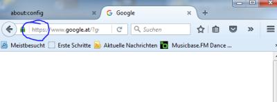 Firefox in der Adresszeile http anzeigen