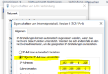 Windows 10 Netzwerkadresse ändern