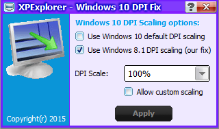 Windows10 DPI fix