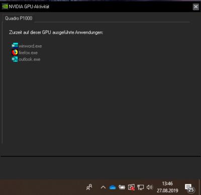 NVIDIA GPU-Aktivitätsmonitor