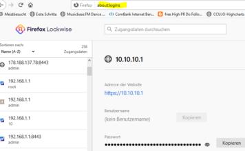 FirefoxPasswörter anzeigen