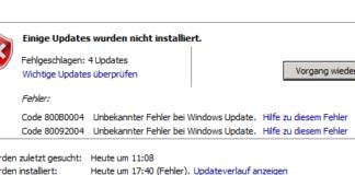 Server 2008R2 Update Error